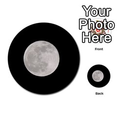 Full Moon At Night Multi Purpose Cards (round)  by picsaspassion