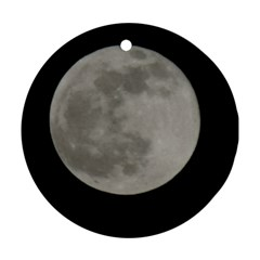 Close To The Full Moon Ornament (round)  by picsaspassion