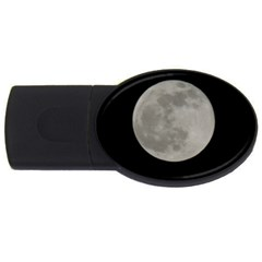 Close To The Full Moon Usb Flash Drive Oval (4 Gb)
