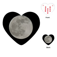 Close To The Full Moon Playing Cards (heart)  by picsaspassion