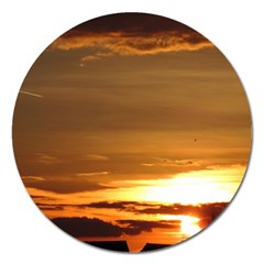 Summer Sunset Magnet 5  (round) by picsaspassion