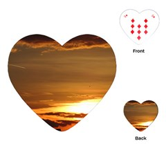 Summer Sunset Playing Cards (heart)  by picsaspassion