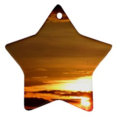 Summer Sunset Star Ornament (two Sides)  by picsaspassion