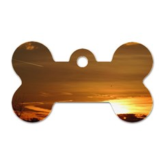 Summer Sunset Dog Tag Bone (one Side) by picsaspassion
