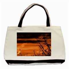 Tree Branches And Sunset Basic Tote Bag (two Sides) by picsaspassion