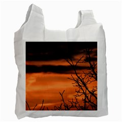 Tree Branches And Sunset Recycle Bag (one Side) by picsaspassion