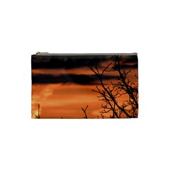Tree Branches And Sunset Cosmetic Bag (small)  by picsaspassion