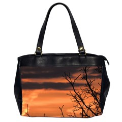 Tree Branches And Sunset Office Handbags (2 Sides)  by picsaspassion