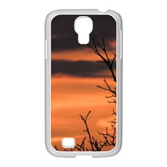 Tree Branches And Sunset Samsung Galaxy S4 I9500/ I9505 Case (white) by picsaspassion
