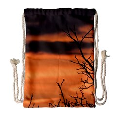 Tree Branches And Sunset Drawstring Bag (large)