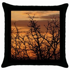 Colorful Sunset Throw Pillow Case (black) by picsaspassion