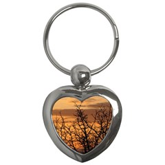 Colorful Sunset Key Chains (heart)