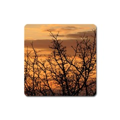 Colorful Sunset Square Magnet by picsaspassion