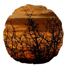 Colorful Sunset Large 18  Premium Flano Round Cushions by picsaspassion