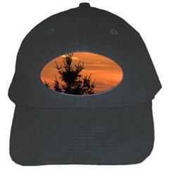 Christmas Tree And Sunset Black Cap