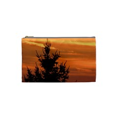 Christmas Tree And Sunset Cosmetic Bag (small)  by picsaspassion