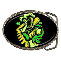 Yellow And Green Spot Belt Buckles by Valentinaart