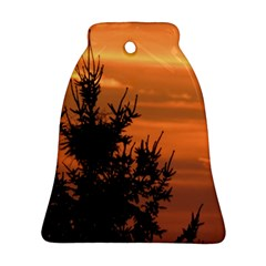 Christmas Tree And Sunset Bell Ornament (2 Sides) by picsaspassion