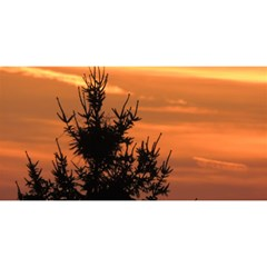 Christmas Tree And Sunset You Are Invited 3d Greeting Card (8x4) by picsaspassion