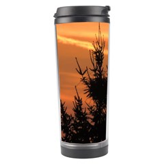Christmas Tree And Sunset Travel Tumbler by picsaspassion