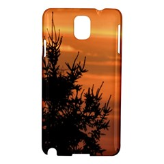 Christmas Tree And Sunset Samsung Galaxy Note 3 N9005 Hardshell Case by picsaspassion