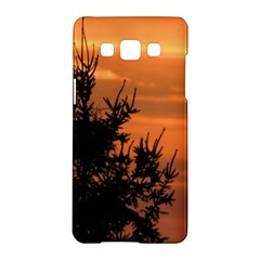 Christmas Tree And Sunset Samsung Galaxy A5 Hardshell Case  by picsaspassion