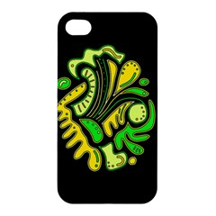 Yellow And Green Spot Apple Iphone 4/4s Premium Hardshell Case by Valentinaart