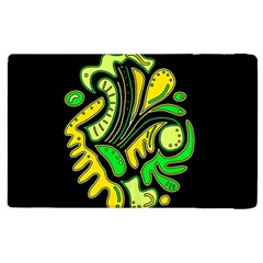 Yellow And Green Spot Apple Ipad 2 Flip Case by Valentinaart