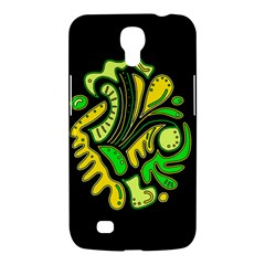 Yellow And Green Spot Samsung Galaxy Mega 6 3  I9200 Hardshell Case by Valentinaart