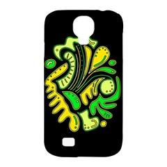 Yellow And Green Spot Samsung Galaxy S4 Classic Hardshell Case (pc+silicone) by Valentinaart