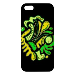 Yellow And Green Spot Iphone 5s/ Se Premium Hardshell Case by Valentinaart