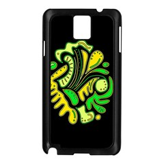 Yellow And Green Spot Samsung Galaxy Note 3 N9005 Case (black)
