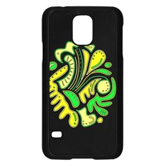 Yellow And Green Spot Samsung Galaxy S5 Case (black) by Valentinaart