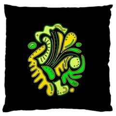 Yellow And Green Spot Standard Flano Cushion Case (one Side) by Valentinaart