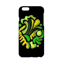 Yellow And Green Spot Apple Iphone 6/6s Hardshell Case by Valentinaart