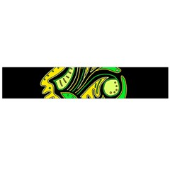Yellow And Green Spot Flano Scarf (large)