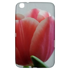 Red   White Tulip Flower Samsung Galaxy Tab 3 (8 ) T3100 Hardshell Case