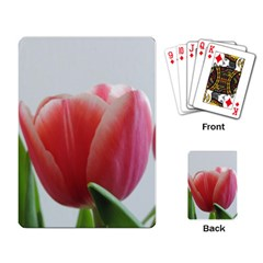 Red Tulips Playing Card by picsaspassion