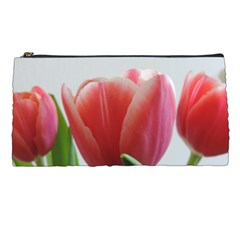Red Tulips Pencil Cases by picsaspassion