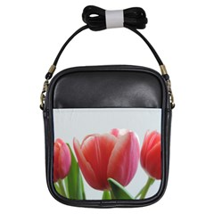 Red Tulips Girls Sling Bags by picsaspassion