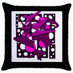 Something Purple Throw Pillow Case (black) by Valentinaart