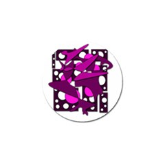 Something Purple Golf Ball Marker by Valentinaart