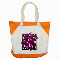Something Purple Accent Tote Bag by Valentinaart