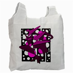 Something Purple Recycle Bag (two Side)  by Valentinaart