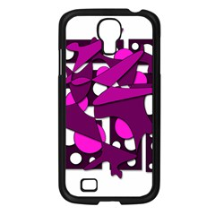 Something Purple Samsung Galaxy S4 I9500/ I9505 Case (black) by Valentinaart