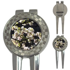 Blooming Japanese Cherry Flowers 3 In 1 Golf Divots by picsaspassion