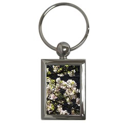 Blooming Japanese Cherry Flowers Key Chains (rectangle)  by picsaspassion