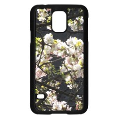 Blooming Japanese Cherry Flowers Samsung Galaxy S5 Case (black) by picsaspassion