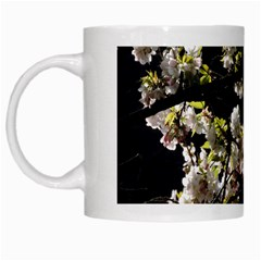 Japanese Cherry Flower White Mugs by picsaspassion