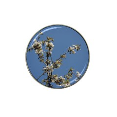 White Cherry Flowers And Blue Sky Hat Clip Ball Marker (10 Pack)
